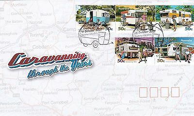 Australia 2007 Caravanning Stamps on First Day Cover
