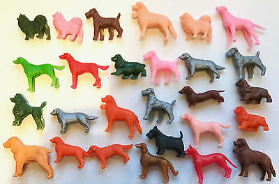 AUSSIE CEREAL TOYS -- HEAPS OF DOGS, VARIOUS BREEDS -- 60s and 70s -- lot of 27