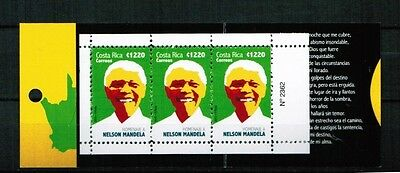 Costa Rica 2015 Booklet ** / mnh Nelson Mandela Südafrika map south africa