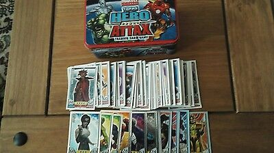 Marvel hero attax tin plus 120+ trading cards topps