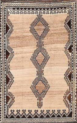 Antique Geometric Earth-tone Color 5x8 Gabbeh Shiraz Persian Oriental Area Rug