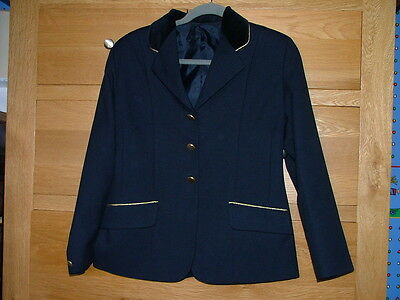 Tagg Equestrian Girls Riding Jacket - Navy with Velvet Collar