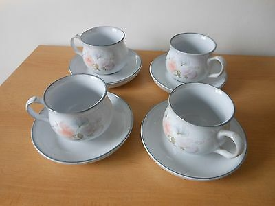4 denby cups and saucers,,,,,,,258