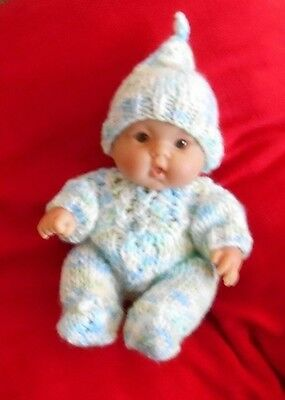 """Doll Clothes Hand-knit Pastel Colors Set Fits 8"""" Chubby Berenguer and Heidi Ott"""