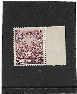 BARBADOS 1938 BADGE OF THE COLONY 2s.6d. PURPLE SG.256 UNMOUNTED MINT--MNH