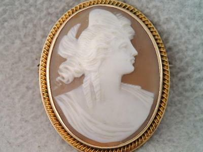 Antique Victorian 14K Gold Cameo Pin Brooch LOOK