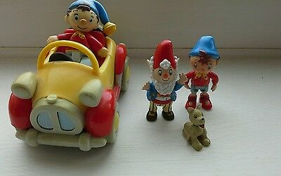Noddy  in car and Noddy figure  and Big Ears and dog poseable play figures