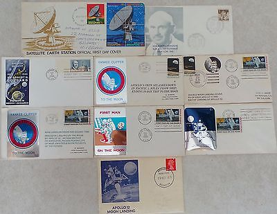 Bundle First Day Cover Stamps - Space Related - Apollo, Moon, Rocket,armstrong