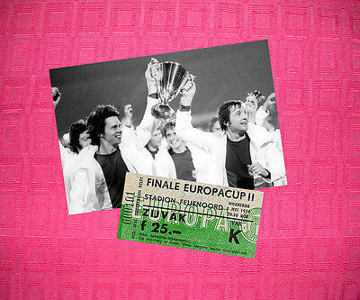 Magdeburg Vs Milan 1974 Cup Winners Cup Champions Photo Ticket Repro Zapf Seguin