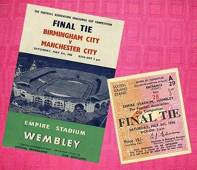 Manchester City Birmingham 1956 Fa Cup Final Programme And Ticket Repro