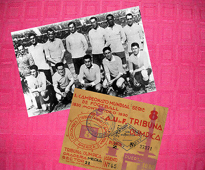 Uruguay 1930 World Cup Champions Photo + Ticket Set