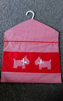 HAND CRAFTED APPLIQUED Scottie Dog PEG BAG