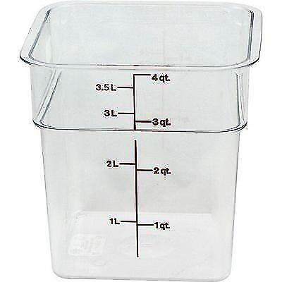 Cambro 4SFSCW135 CamSquare Square Food Storage Container (4-Quart,