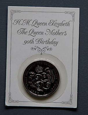 1990 H.M. THE QUEEN'S MOTHER'S 90th BIRTHDAY £5 FIVE POUND COIN UNCIRCULATED UNC