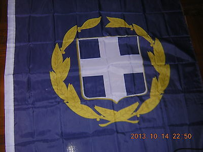 NEW reproduced Flag of Standard of the President of Greece Greek Ensign, 3ftX5ft