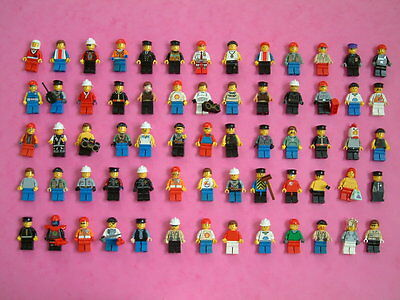 Lego minifigs x 65, plus hats, weapons, torsos with heads. See 2 pics. Joblot.