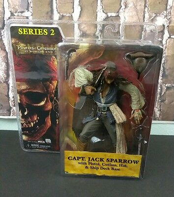 NEW Neca Series 2 Pirates of the Caribbean CAPT. JACK SPARROW World's End Figure