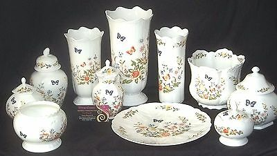 Aynsley COTTAGE GARDEN 11 Assorted Pieces - Including Three Vases - JOB LOT