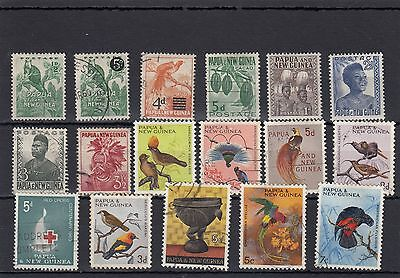 Papua & New Guinea.17 -- Used Stamps On Stockcard