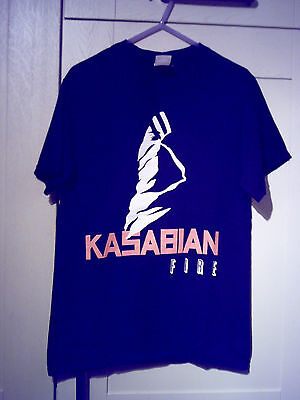 "Kasabian - Vintage ""fire"" Uk & Ireland Tour 2009/10 Black T-Shirt (S)"