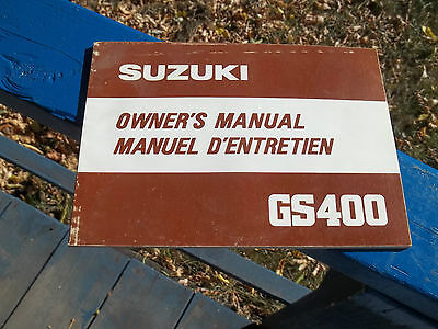 1980  Owners Service Manual Suzuki Gs400  Brakes Stator Cables Cdi  Forks Light
