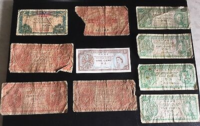 Well Used Hong Kong 1 / 5/ 10 Cent Notes ~ 10 in Total ~ £2.25 Start
