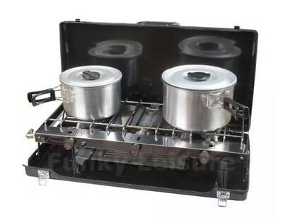 Kampa Alfresco Double Gas Camping Stove Hob With Grill