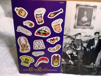 1989 CROWN ROYAL WHISKY Stickers christmas Ad Print whiskey