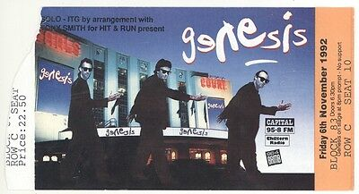 Rare GENESIS 11/6/92 London England Earls Court Concert Ticket Stub!