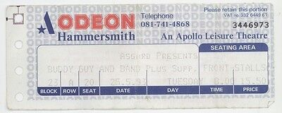 Rare BUDDY GUY 5/25/93 London England Hammersmith Odeon Concert Ticket Stub!