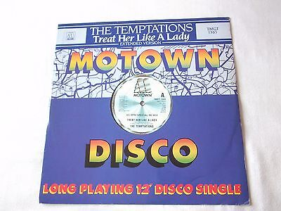 """The Temptations """" Treat Her Like A Lady """" 45 12"""" Special Re-mix Single Motown"""