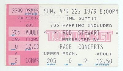 RARE Rod Stewart 4/22/79 Houston TX The Summit Concert Ticket Stub!