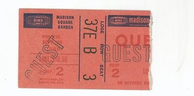 RARE Queen 9/29/80 NYC NY Madison Square Garden Concert Ticket Stub! MSG