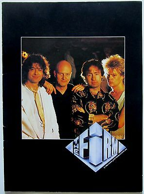 The Firm 1985 First Tour Concert Program! Jimmy Page Led Zeppelin Paul Rodgers