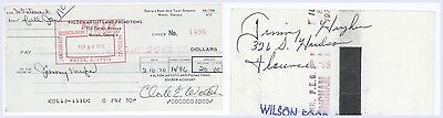RARE Jimmy Hughes SIGNED Cancelled Check! Percy Sledge Cousin! Steal Away A76