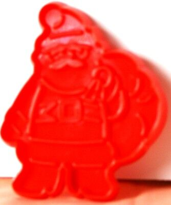 "HTF 1993 HUTZLER Red SANTA w.TOY BAG Cookie Cutter PLASTIC Impress 3.25"" x 2.75"""