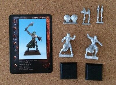 Rackham Confrontation 2 Dirz Models metal with card and weapons