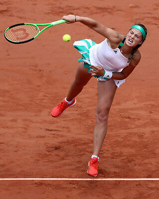 Jelena Ostapenko French Open 2017 unsigned 8x10 tennis action photo 4