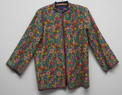 Beautiful Vintage Extensively  Hand Embroidered Floral Jacket (447)