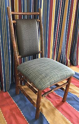 4 Old Hickory Furniture Original Dining Chairs Blue Wilderness Lodge Disney Prop