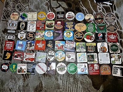COLLECTION OF 200 BEER MATS/COASTERS  No. 65   ALL DIFFERENT