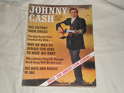 1970 JOHNNY CASH-HIS LIFE STORY Collectors Magazine