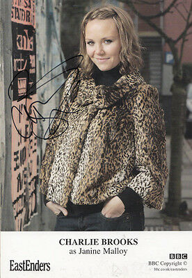 Charlie Brooks Janine Malloy Eastenders Hand Signed Undedicated Cast Card Photo