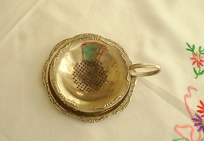 Sweet Silver Plated? Vintage Tea Strainer and Holder