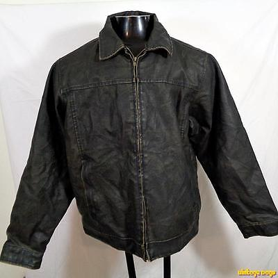 ARIZONA Jean Faux Leather Biker Jacket Mens size XL Brown/Black insulated