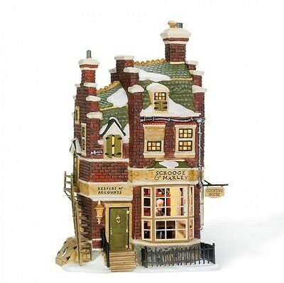 Dept 56 Dickens Village A Christmas Carol SCROOGE & MARLEY COUNTING HOUSE 58483