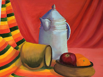 Lovely Oil Painting On Canvas Of A Still Life Work