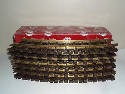 LGB 1100 x 12 BRASS CURVED TRACK R1, 30°, r = 600mm WITH BOX G-SCALE