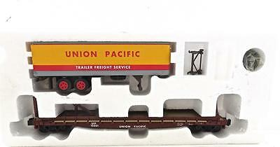 S Helper Show Case Line Union Pacific Flat car with UP trailer MINT OB