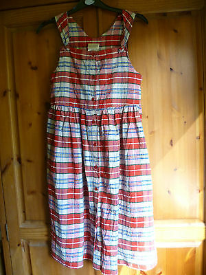 Vintage Laura Ashley Mother & Child pinafore dress age 9 Red Check Design